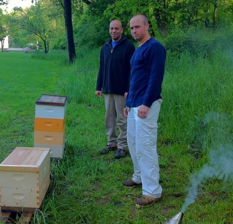 Matt and Doug meet Doug's Bees