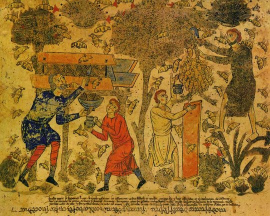 Praise of the Bees by Barberini Exultet Scroll circa 1087