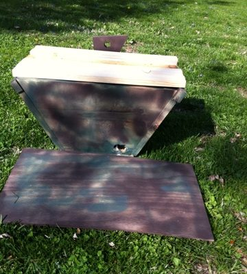 Swarm-Bait Box (fit with top bars for a Kenya Top-Bar Hive)